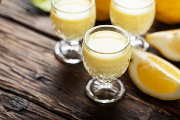 Traditional italian liguore with lemon