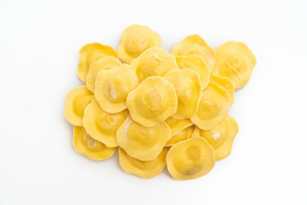Traditional italian ravioli pasta isolated