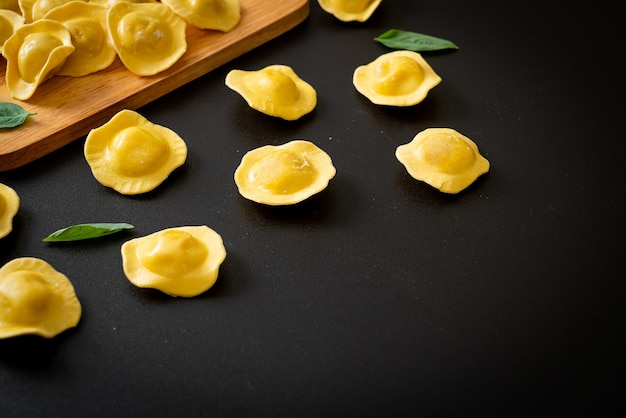 Traditional italian ravioli pasta - italian food style