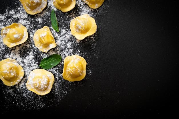 Traditional italian ravioli pasta