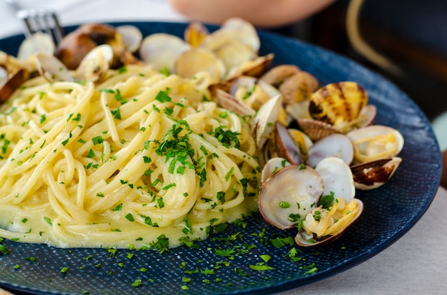 Traditional italian seafood. mediterranean cuisine concept.