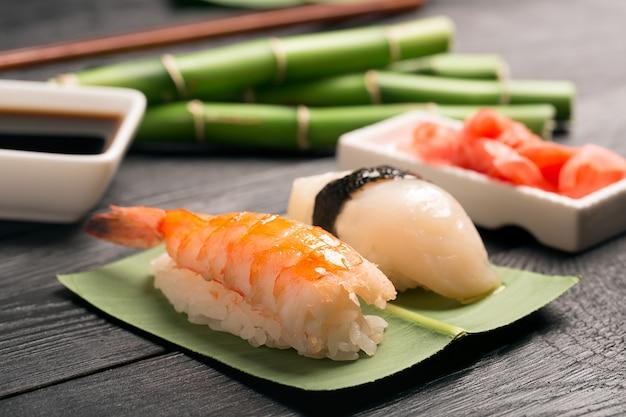 Traditional japanese sushi