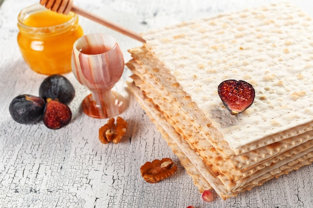 Traditional jewish kosher matzo for easter pesah