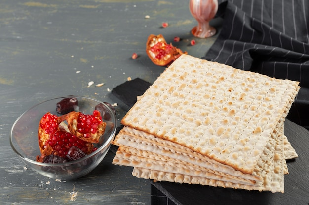 Traditional jewish kosher matzo for easter pesah