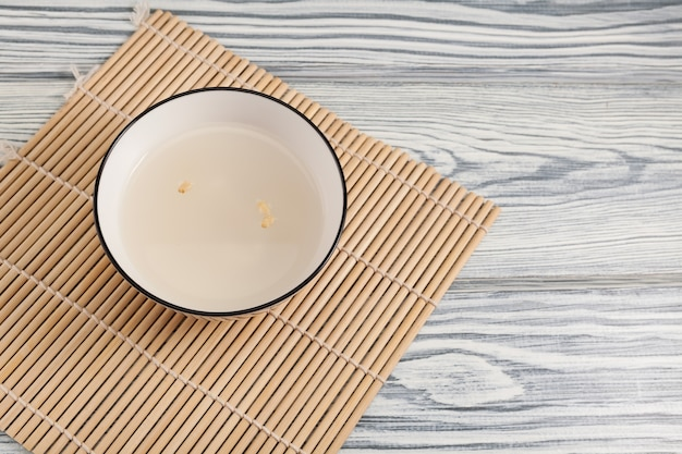 Traditional korean drink, afternoon tea, sweet rice drink