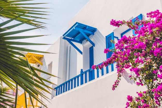 Traditional mediterranean island greece travel