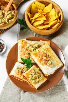 Traditional mexican dish - chimichanga.