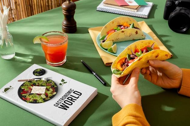 Cibo messicano tradizionale nella giornata mondiale del turismo
