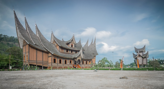 The traditional minang architectural style