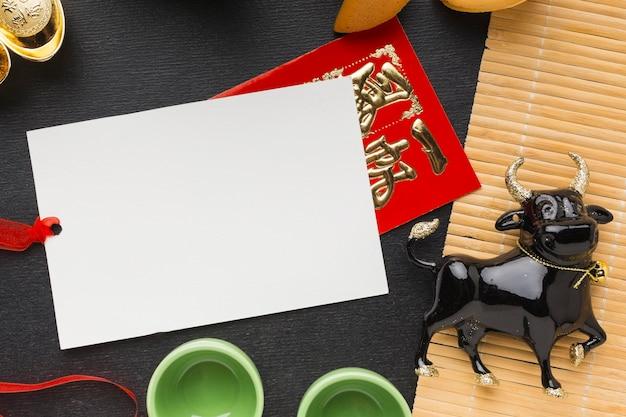 Традиционный новый год китайский бык