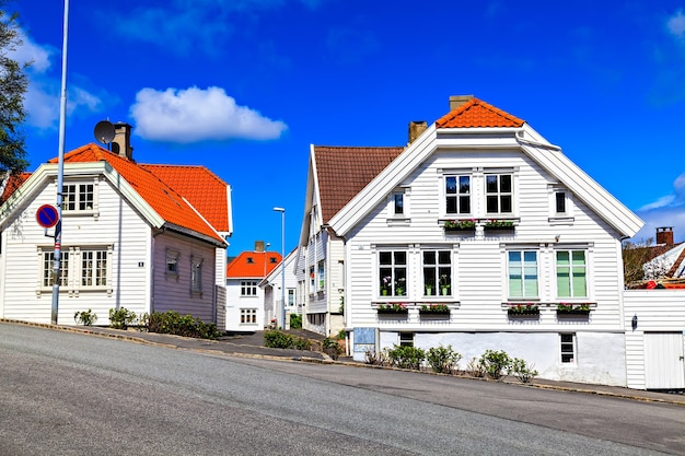 Traditional norwegian architecture: a wooden house