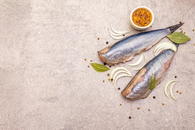 Traditional norwegian herring
