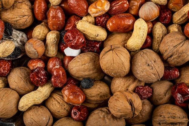 Traditional novruz holiday nuts stock