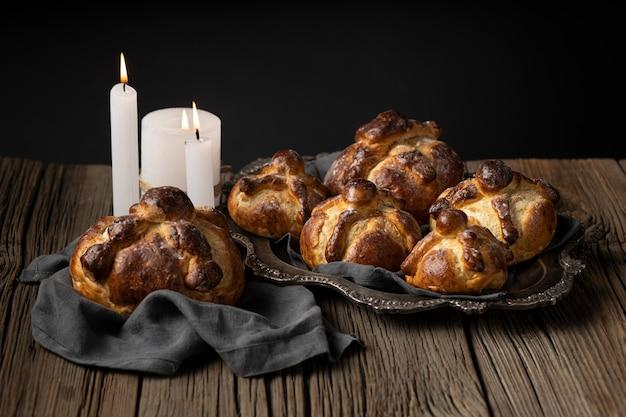 Arrangiamento tradizionale del pan de muerto