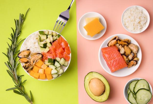 Традиционный салат с ингредиентами