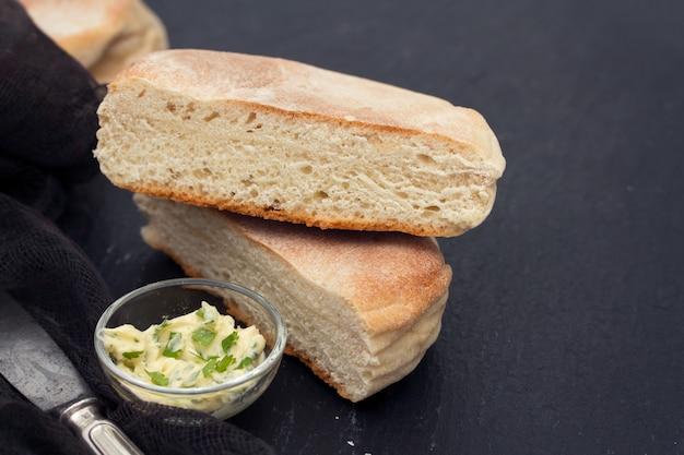 Traditional portuguese potato bread of madeira - bolo de caco