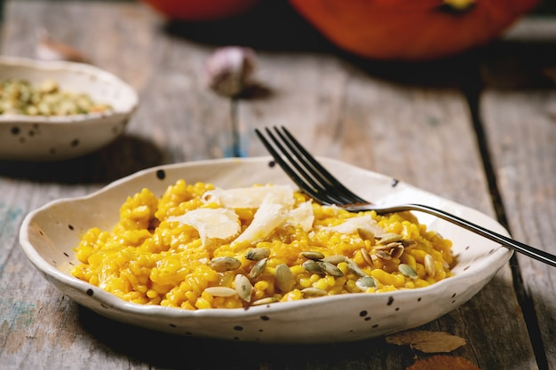 Traditional pumpkin risotto