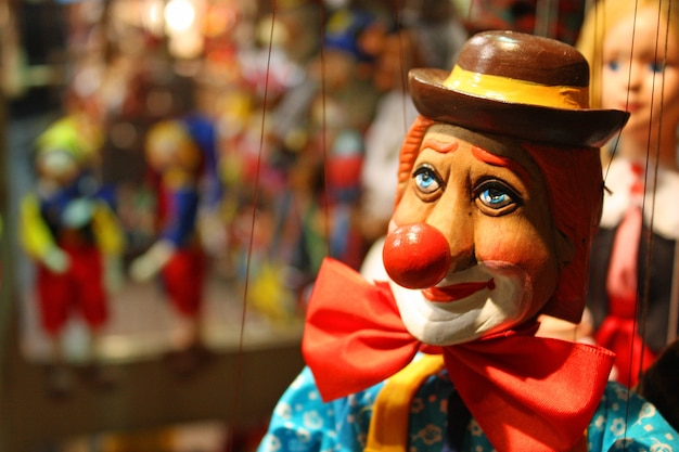 Traditional puppet - the clown portrait