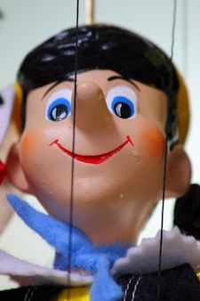 Traditional puppet - pinocchio, vertical