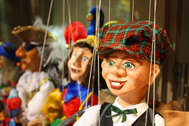Traditional puppets - the young boy