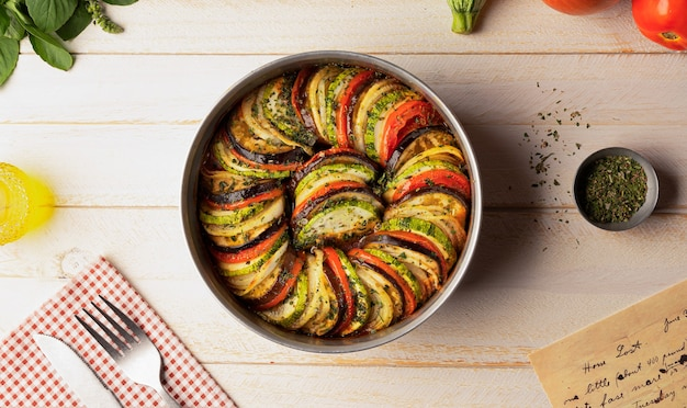 Traditional ratatouille - typical french food