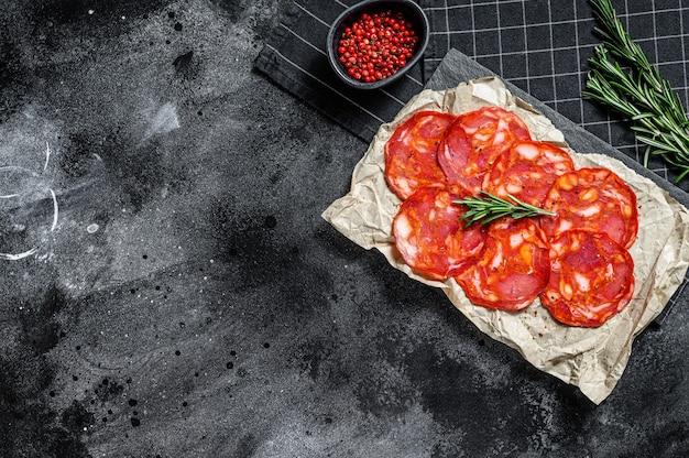 Traditional salami chorizo sausage