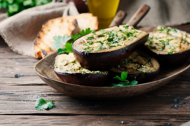 Traditional sardinian dish eggplant