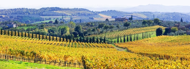 Традиционные пейзажи тосканы.