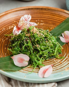 Traditional seaweed vegetable salad