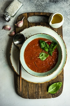 Traditional spanish soup gazpacho