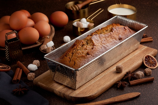 Traditional spice gingerbread cake