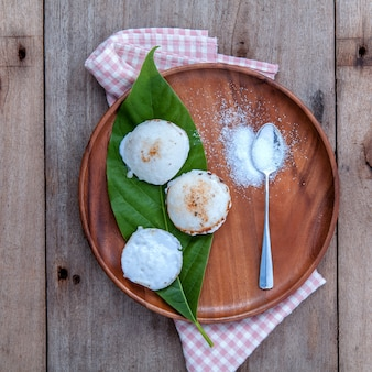 Traditional thai dessert kanom krok .