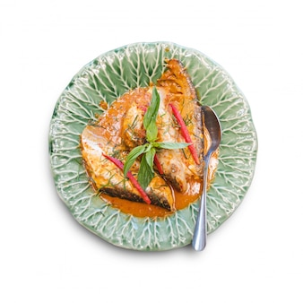 Traditional thai food isolated on the white background
