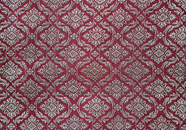 Traditional thai style fabric pattern.