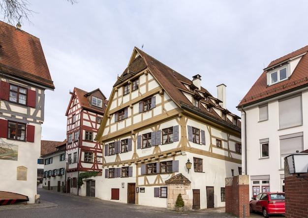 ドイツ、ウルムの伝統的な木造住宅