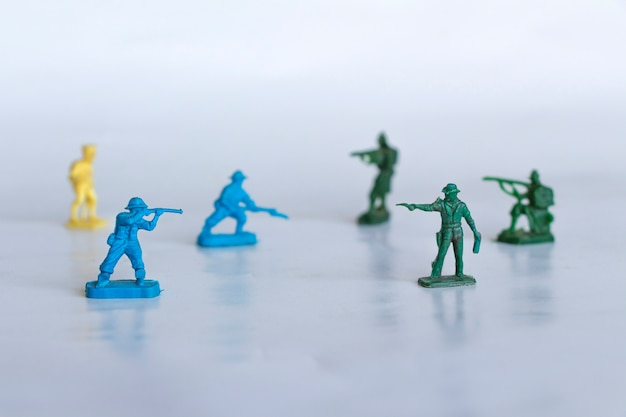 Traditional toy soldiers, collection of traditional toy soldiers