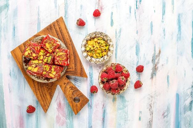 Delizie turche tradizionali, dolci orientali.
