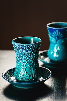 Traditional turkish glasses for tea