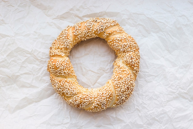 Traditional turkish pastries - buns in the form of twisted bagels rings