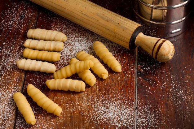 Traditional venezuelan cheese sticks arrangement