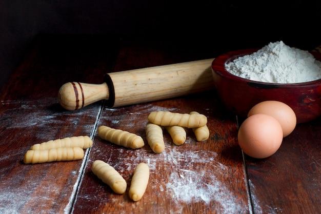 Traditional venezuelan cheese sticks assortment