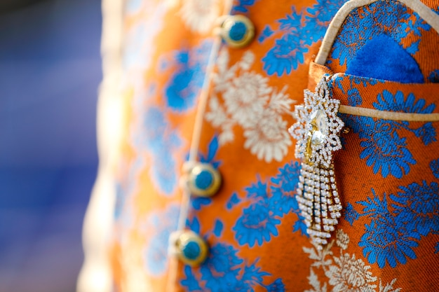 Traditional  wedding ceremony in hinduism: groom dressing design