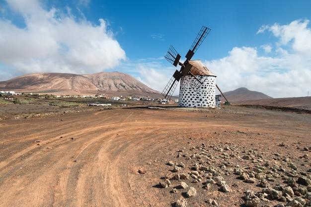Traditional windmill in fuerteventura