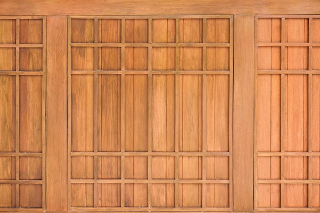 Traditional wood of japan style. texture of japanese wood shoji. japanese style wooden house