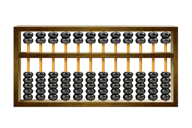 Traditional wooden abacus isolated on white background