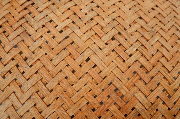 Traditional woven bamboo texture and detail