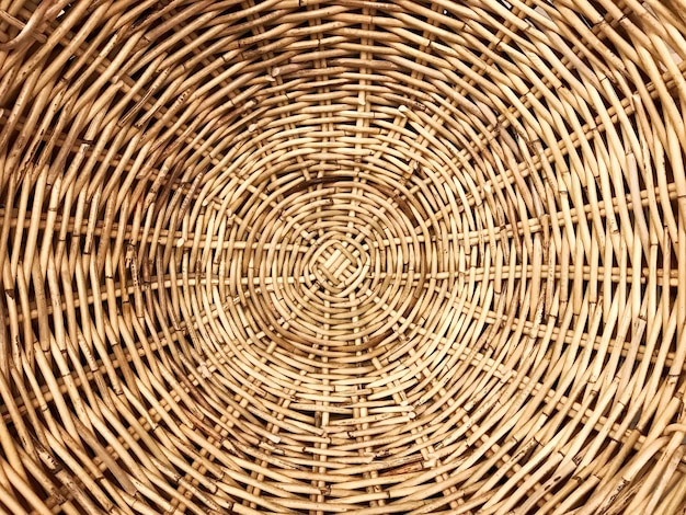 Traditional woven wood rattan pattern