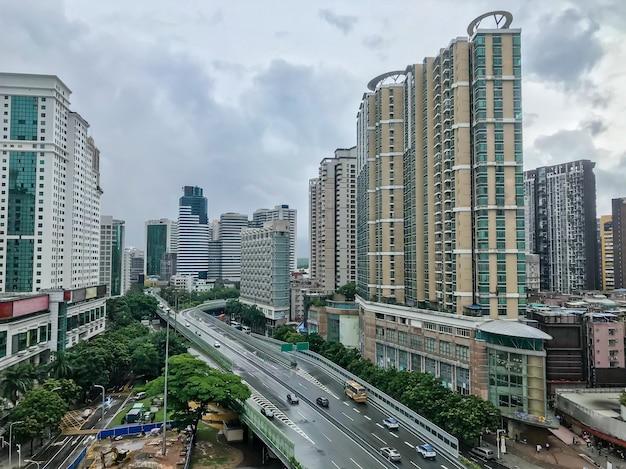 홍콩 섬 중국 도시에서 교통