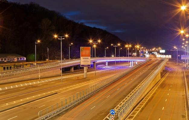Traffic interchange in kyiv, ukraine