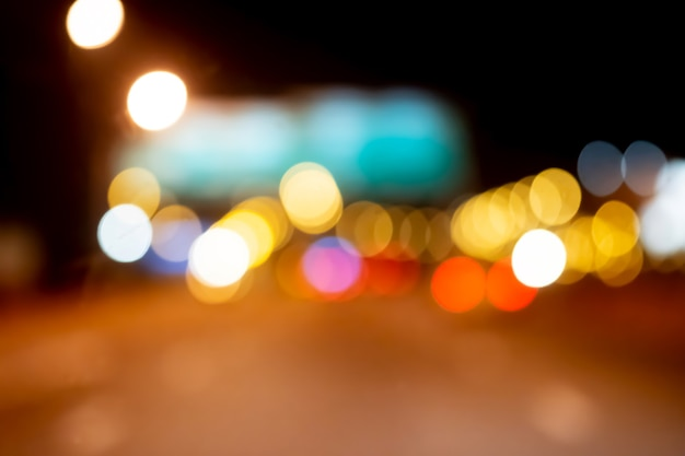 Traffic jams in the city - rush hour soft focus and over blurry.